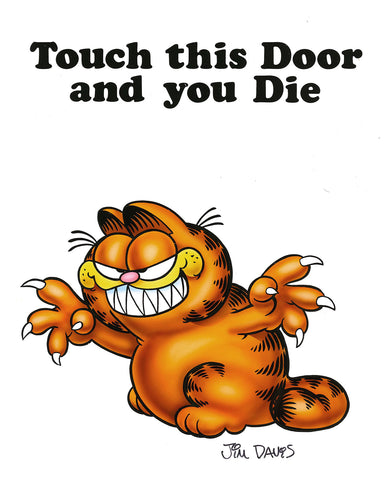 Garfield Airbrushed Artwork - Touch This Door