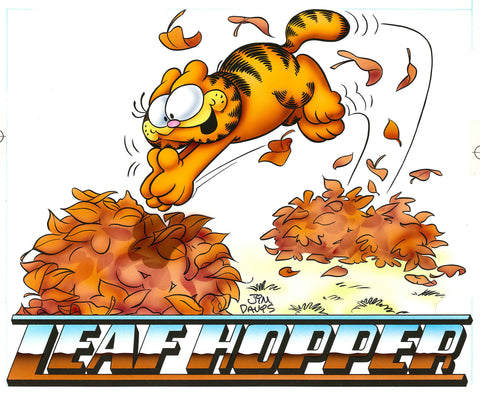 Garfield Airbrushed Artwork - Leaf Hopper