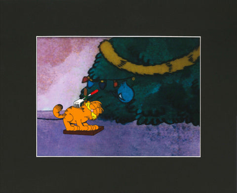 Garfield Christmas Animation Cel