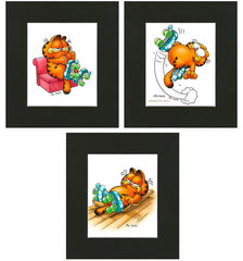 Garfield Airbrushed Artwork - Roller Skater: Falling