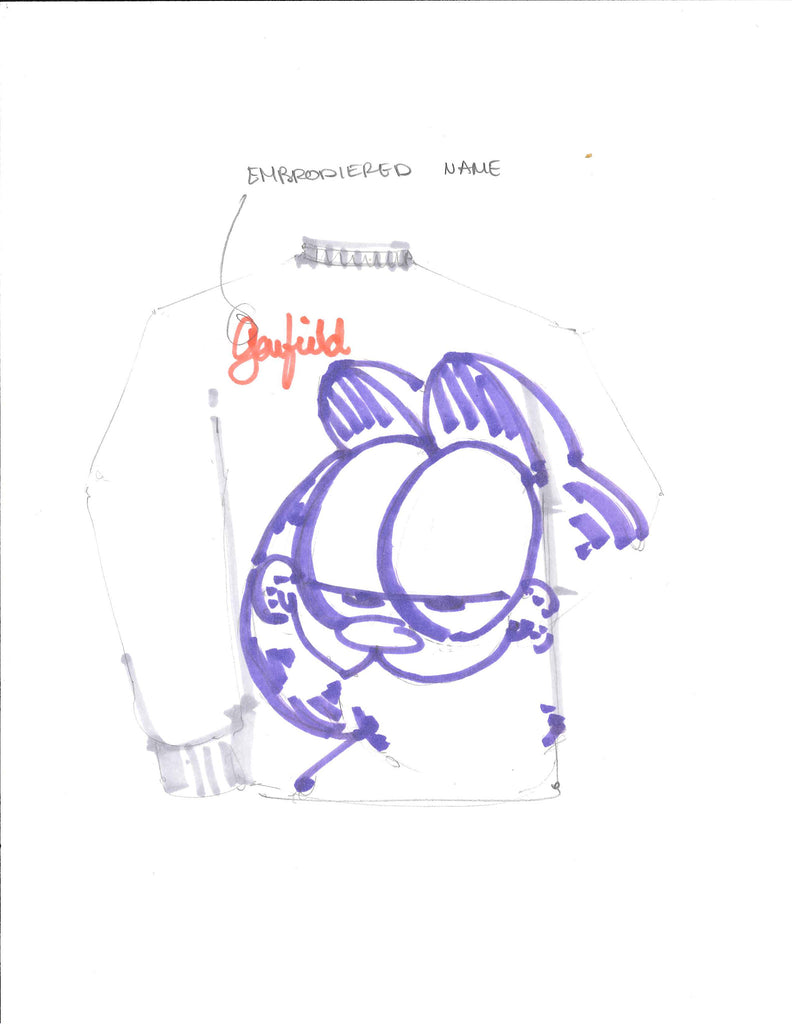Garfield Sweatshirt Sketch
