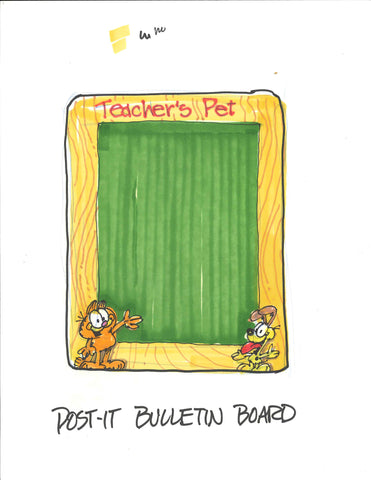 Garfield Post-It Bulletin Board