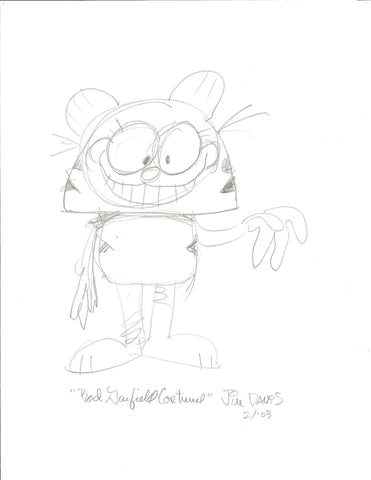 "Sketch of Garfield ""Bad Garfield Costume"""