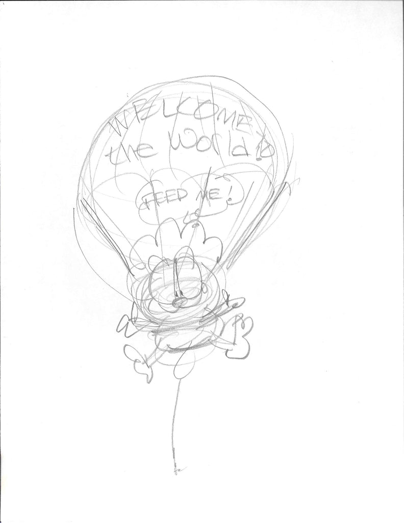 "Sketch of Garfield Baby ""Welcome to the World"""