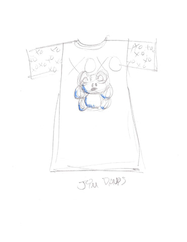 Pooky T-shirt Sketch