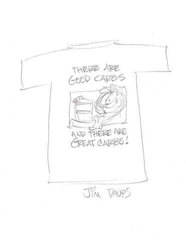 """Good Carbs & Great Carbs"" Garfield Attitude T-shirt"