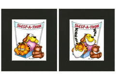 Garfield, Odie & Pooky Airbrushed Artwork - Sleep-A-Thon 1
