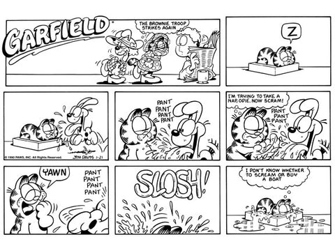 Garfield Original Sunday Comic Strip