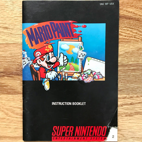 Mario Paint Instruction Manual