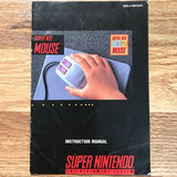 Super NES Mouse Instruction Manual