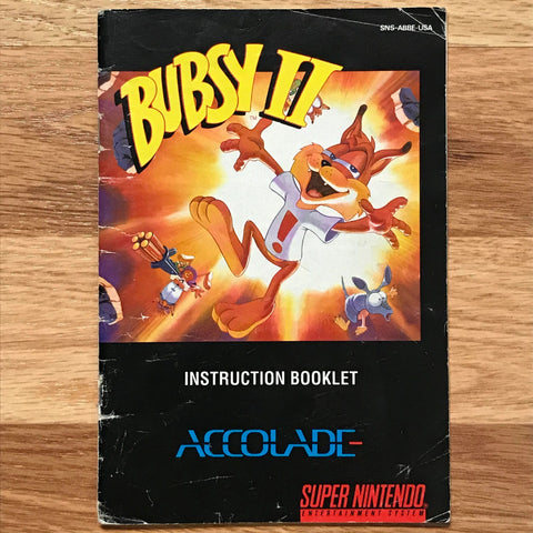 Bubsy II Instruction Manual