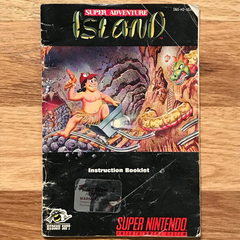 Super Adventure Island Instruction Manual