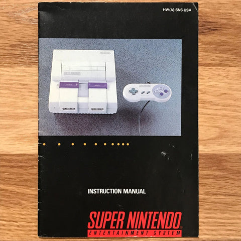 Super Nintendo SNES System Instruction Manual