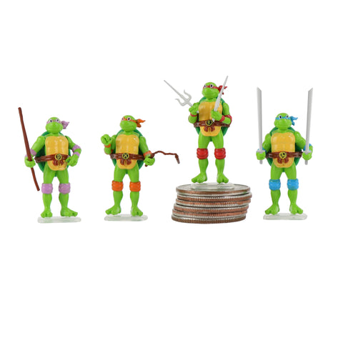 TMNT - World's Smallest Set of 4 Micro Action Figures