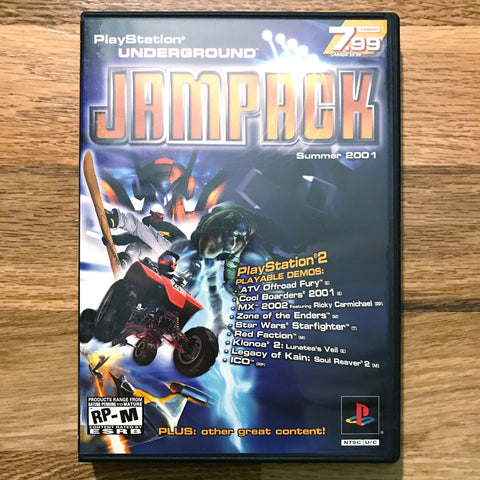 PlayStation Underground Jampack Summer 2001