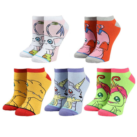 Digimon Ankle Socks - 5 Pack