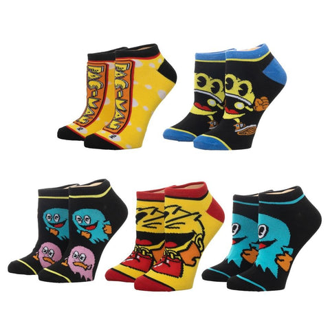 Pac-Man Ankle Socks - 5 Pack