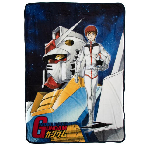 Gundam Original Cover Fleece Throw Blanket
