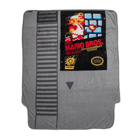 Super Mario Cartridge Shaped Fleece Throw Blanket
