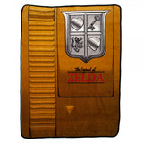 Zelda Gold Cartridge Shaped Fleece Throw Blanket