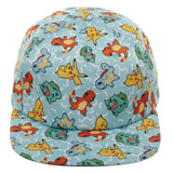 Pokemon Allover Print Character Snapback Hat
