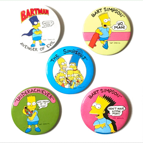 The Simpsons Pinback Buttons - 5 Pack