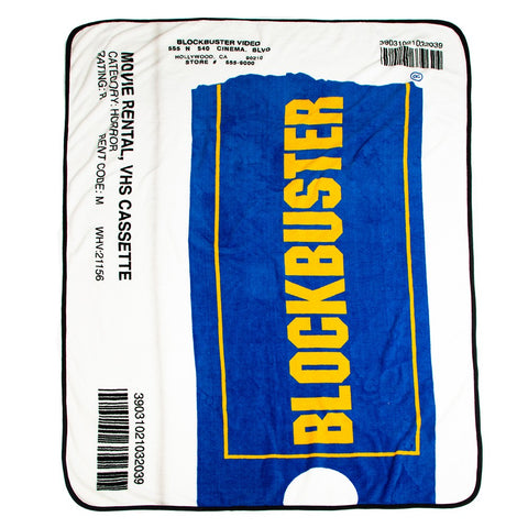 Blockbuster VHS Case Digital Fleece Throw