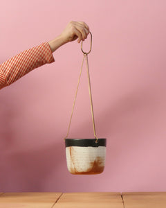 Leaf and Thread Hanging Planter