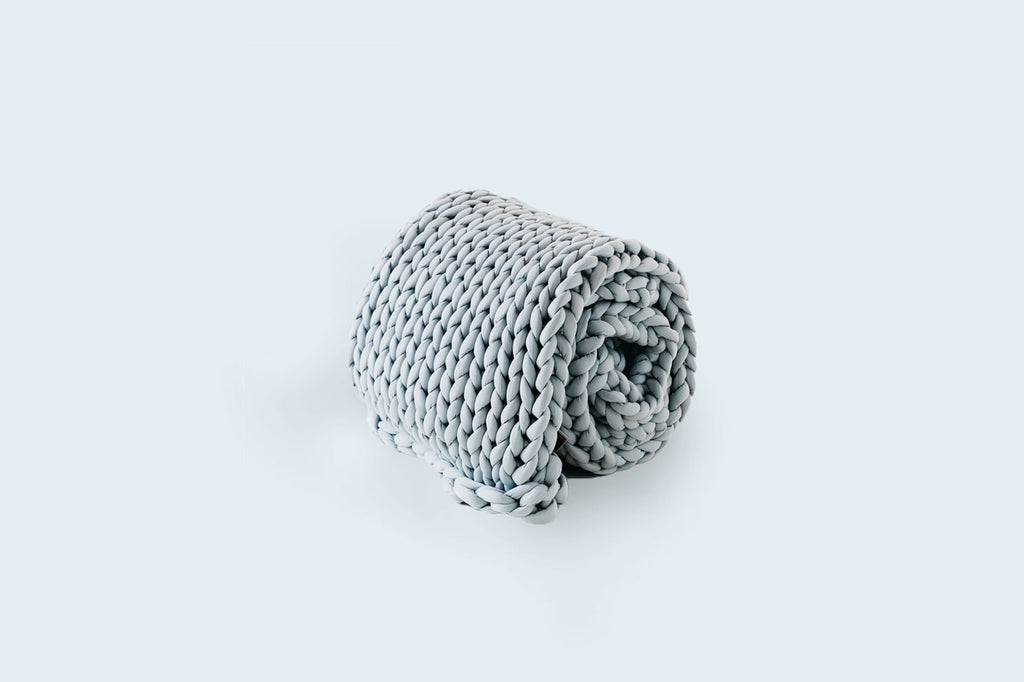 Grey Woven Dream Weighted Throw - Serenity Blankets