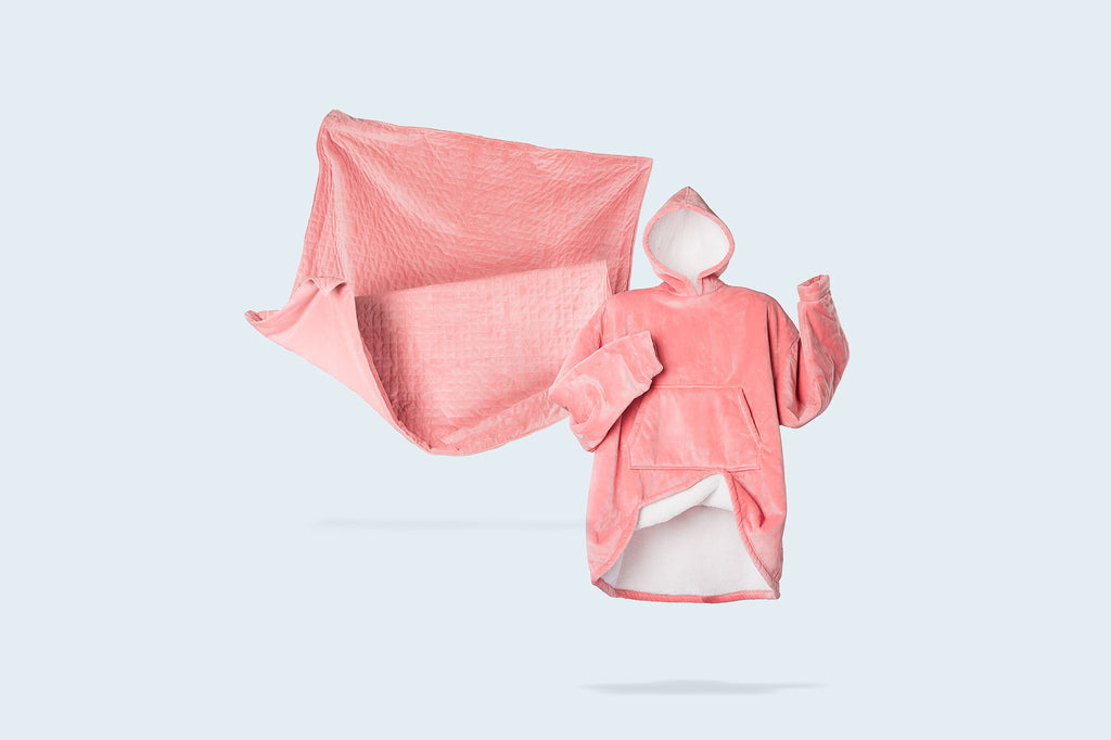 Pink Serenity Bundle - Weighted Blanket and Blanket Hoodie - Serenity Blankets