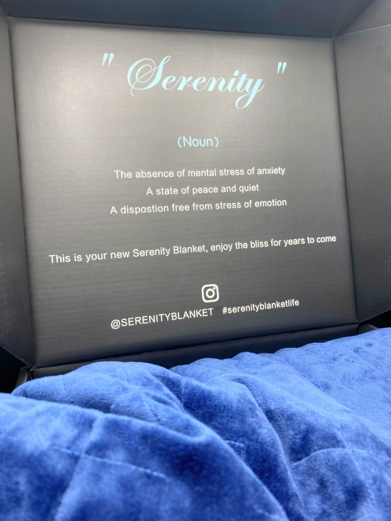 Blue Serenity Weighted Gravity Blanket - Serenity Blankets