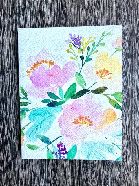 Watercolour Floral (blank)