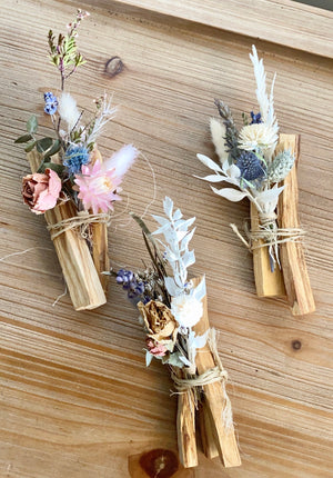 Palo Santo bundle with Dried Flowers