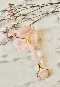Rose Quartz Jade Facical Roller
