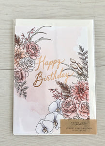 Happy birthday - typoflora