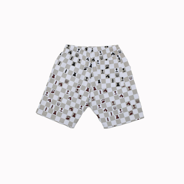 A Bush Of Ghosts Fleece Shorts SH02-WH - Georgios Clothing Store