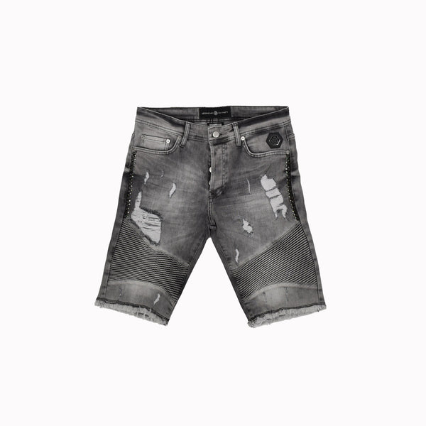 Rawyalty Denim Shorts RJS-2692-WH - Georgios Clothing Store