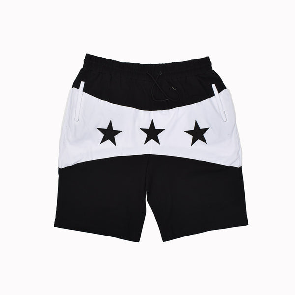Hudson Outerwear Shorts H35395-BLK-WH - Georgios Clothing Store