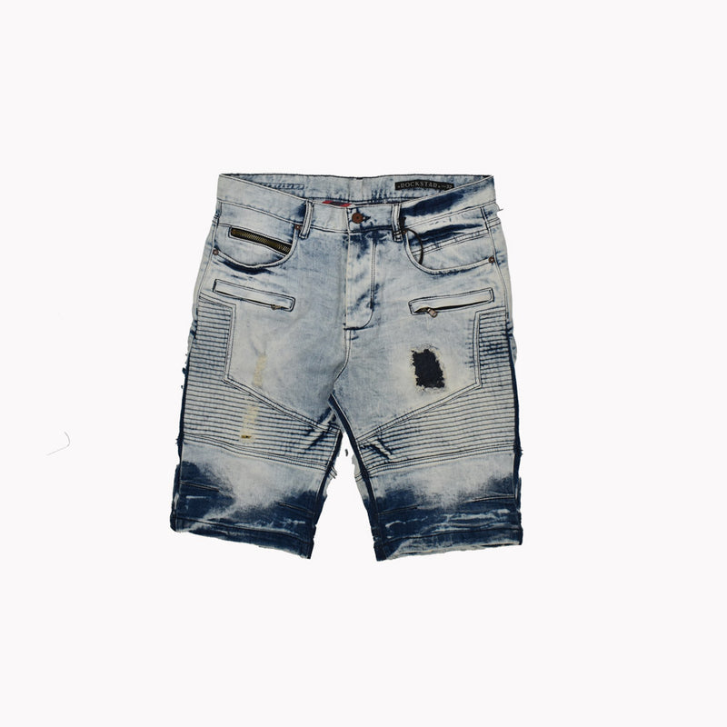 Rockstar Denim Shorts RSM4010RT2-WH - Georgios Clothing Store