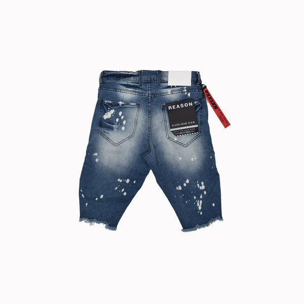 Reason Denim Shorts T0-111-WH - Georgios Clothing Store