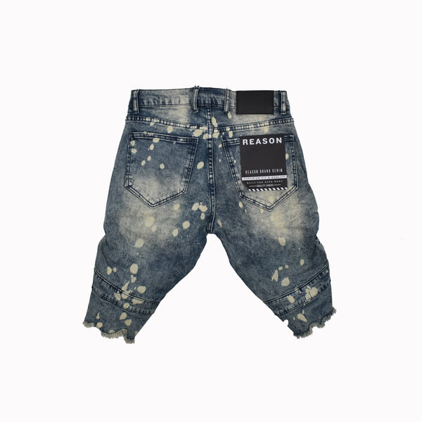 Reason Denim Shorts T0-105-WH - Georgios Clothing Store
