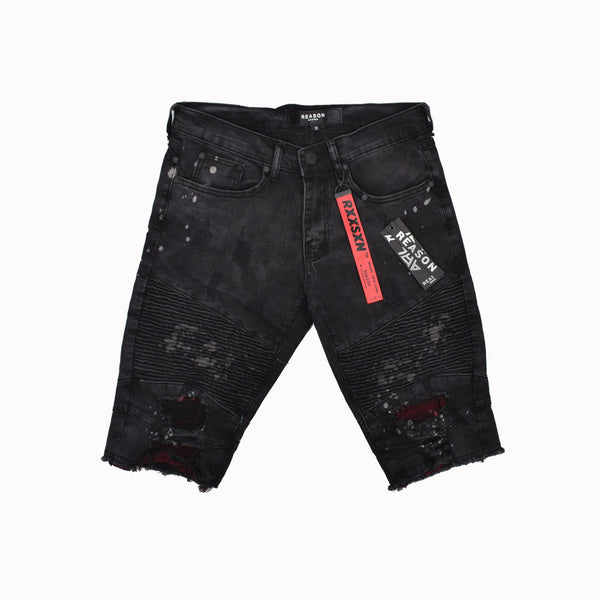 Reason Denim Shorts T0-107-WH - Georgios Clothing Store