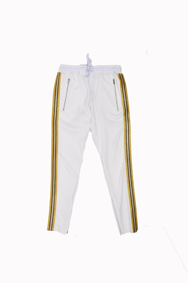 Karter Collection Track Pants KQSB17-A9-2-WH - Georgios Clothing Store
