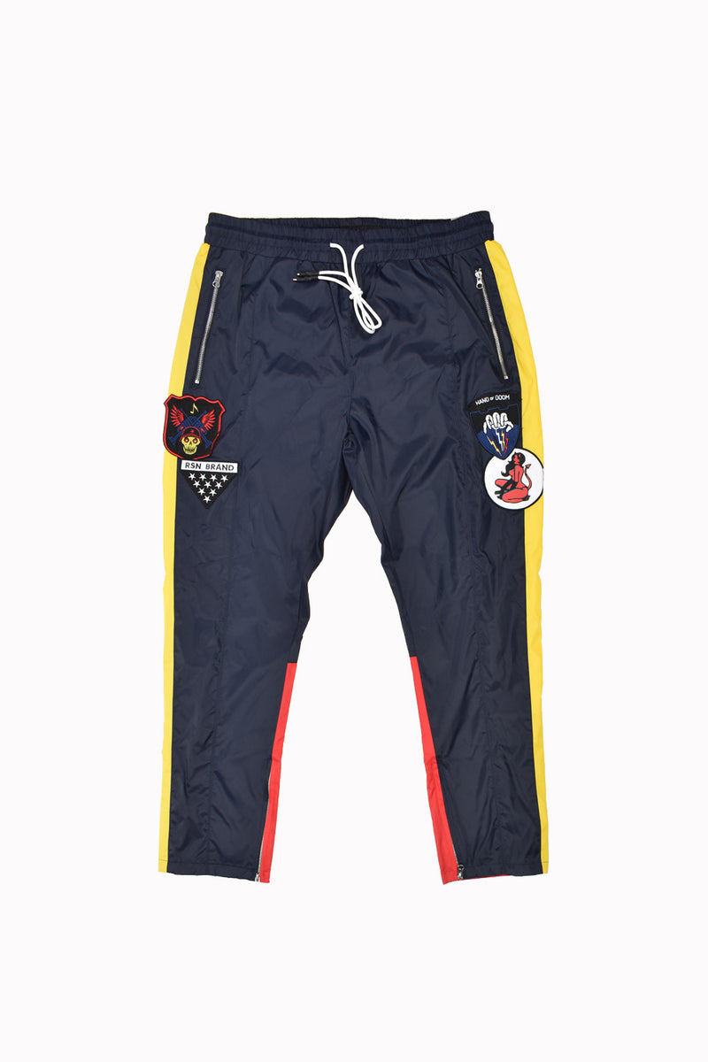 Reason Nylon Track Pants F9-50-N-WH - Georgios Clothing Store