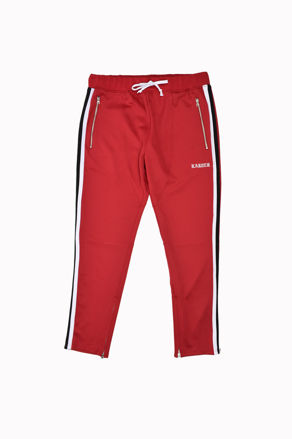 Karter Collection Track Pants KRTRFA218-2-WH
