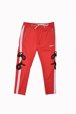 Karter Collection Maverick Track Pants KQS18BK-514-WH - Georgios Clothing Store