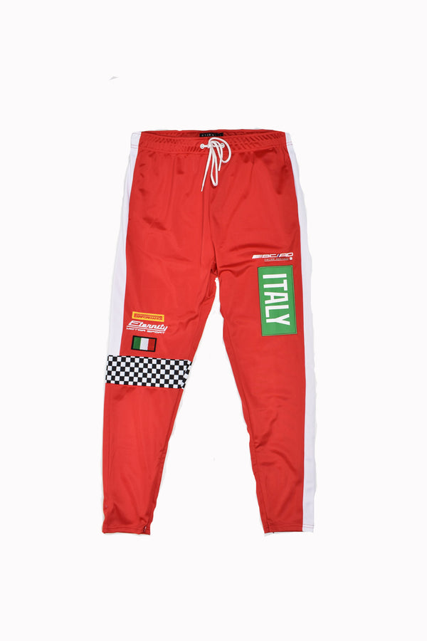 Eternity Racer Track Pants E4130165-RD-WH - Georgios Clothing Store