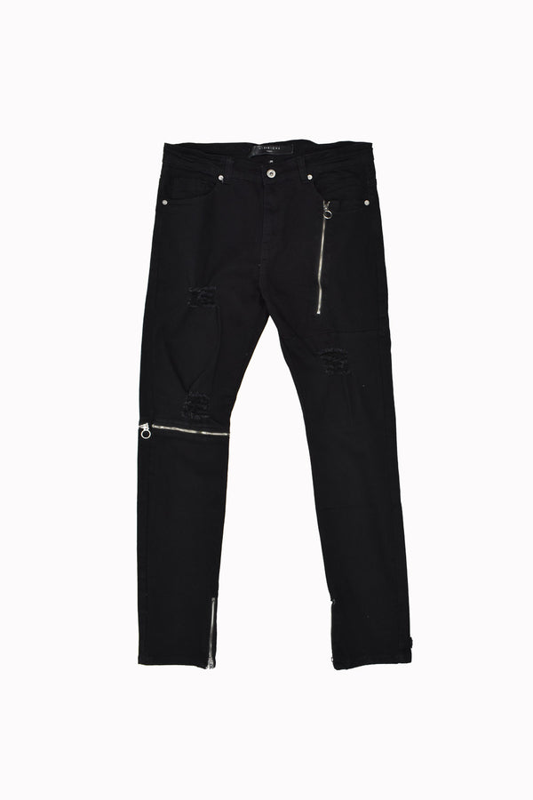 Vie Richie Paris Zip-Off Leg Denim Jeans 35148-WH