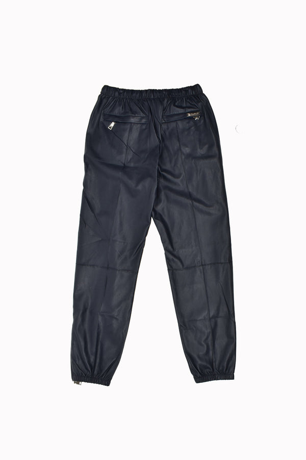 Forte Faux Leather Joggers CLE2PW-WH