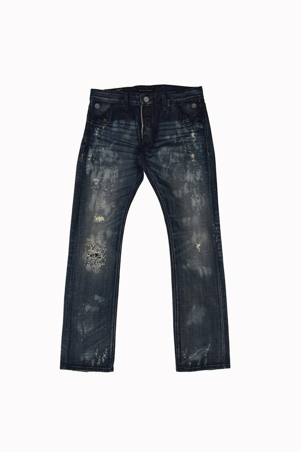 Cult of Individuality Dark Denim Jeans 658-15B-501A-WH